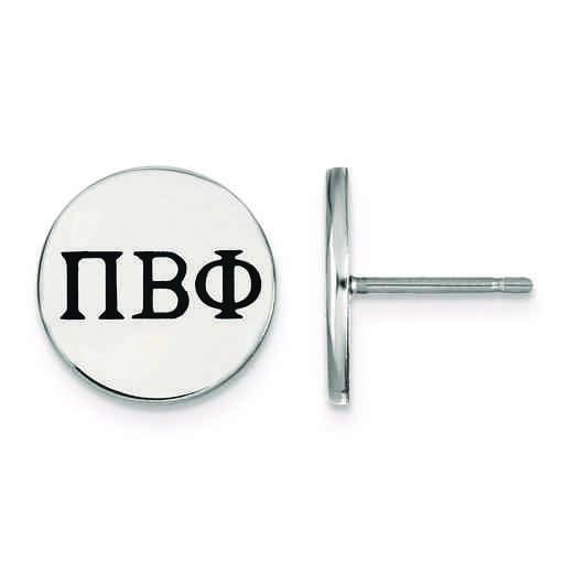 SS033PBP: Strlng Slvr LogoArt Pi Beta Phi Enameled Post Earrings