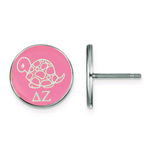 SS046DZ: Strlng Slvr LogoArt Delta Zeta Enameled Post Earrings