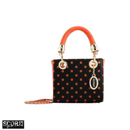 H150330-12-BLK-OR: Jacqui Small Satchel BLK-OR