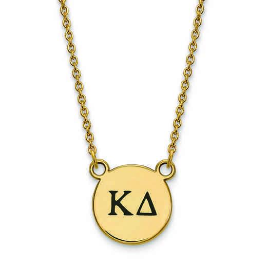 GP016KD-18: SS w/GP LogoArt Kappa Delta Sm Enl Pend w/Necklace