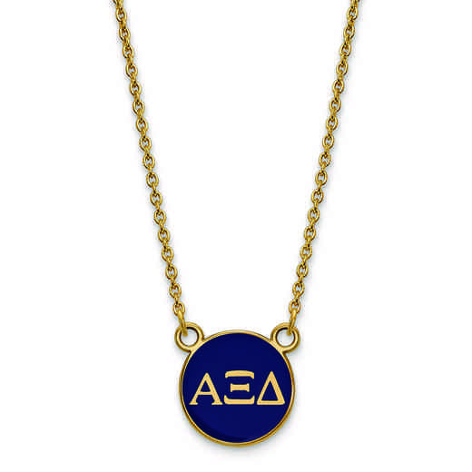 GP029AXD-18: SS w/GP LogoArt Alpha Xi Delta Sm Enl Pend w/Necklace