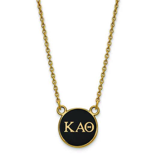 GP029KAT-18: SS w/GP LogoArt Kappa Alpha Theta Sm Enl Pend w/Necklace