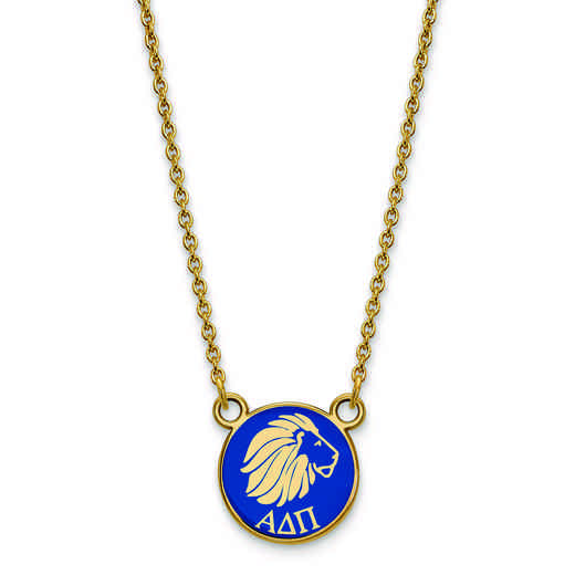GP042ADP-18: SS w/GP LogoArt Alpha Delta Pi Sm Enl Pend w/Necklace
