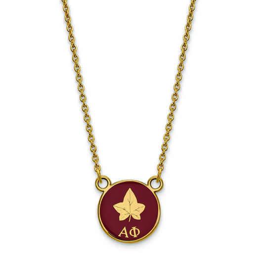 GP042APH-18: SS w/GP LogoArt Alpha Phi Sm Enl Pend w/Necklace