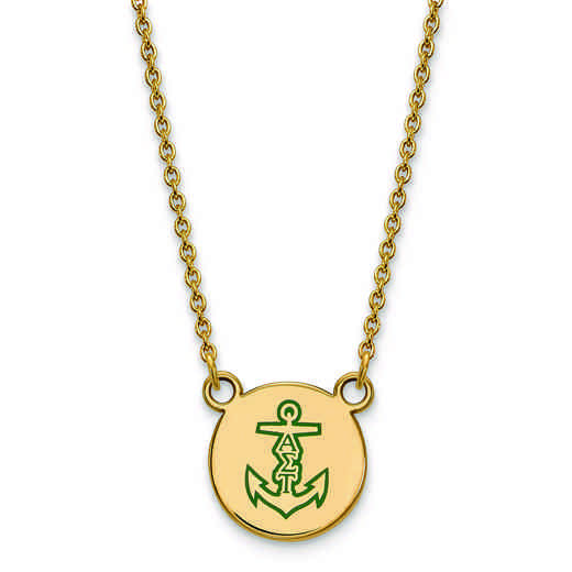 GP044ALS-18: SS w/GP LogoArt Alpha Sigma Tau Sm Enl Pend w/Necklace