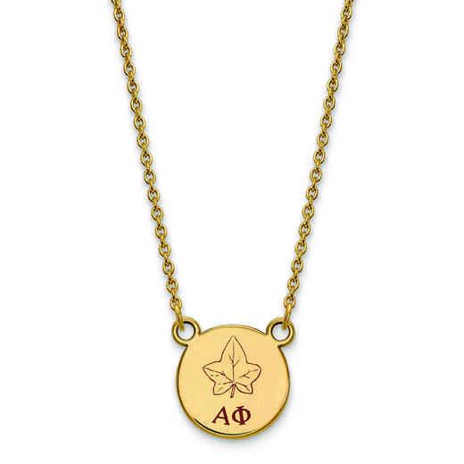 GP044APH-18: SS w/GP LogoArt Alpha Phi Sm Enl Pend w/Necklace