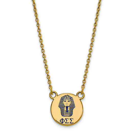 GP044PSS-18: SS w/GP LogoArt Phi Sigma Sigma Sm Enl Pend w/Necklace