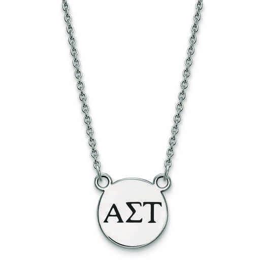 SS016ALS-18: SS LogoArt Alpha Sigma Tau Sm Enl Pend w/Necklace