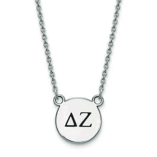 SS016DZ-18: SS LogoArt Delta Zeta Sm Enl Pend w/Necklace