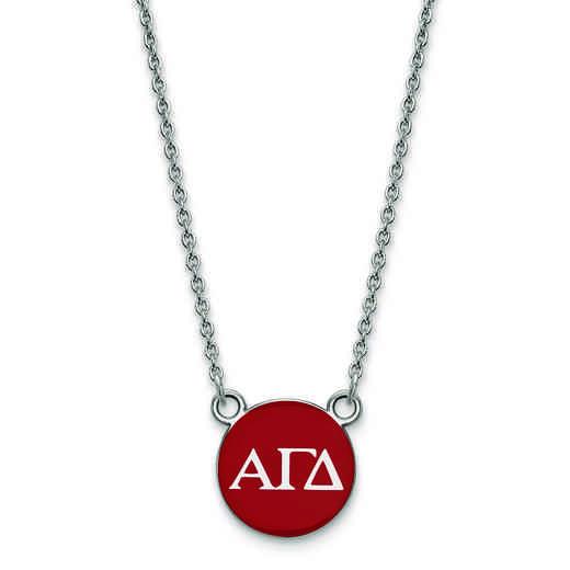 SS029AGD-18: SS LogoArt Alpha Gamma Delta XS Enl Pend w/Necklace