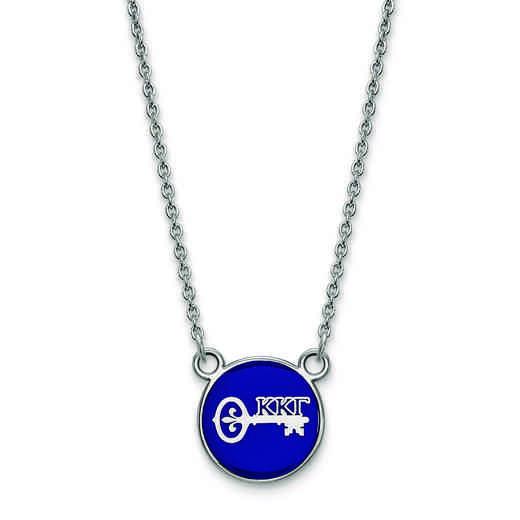 SS042KKG-18: SS LogoArt Kappa Kappa Gamma Sm Enl Pend w/Necklace