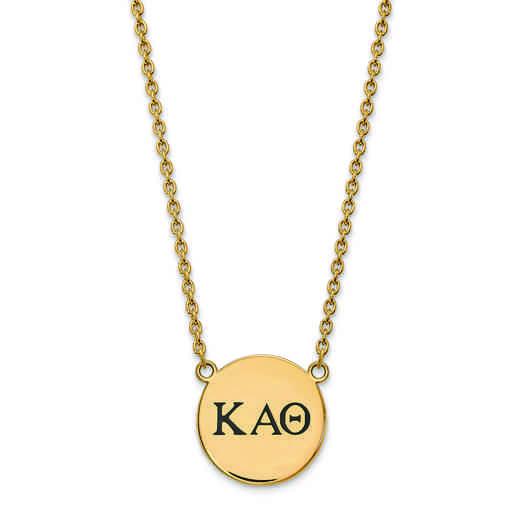 GP017KAT-18: SS w/GP LogoArt Kappa Alpha Theta Large Enl Pend w/Necklace