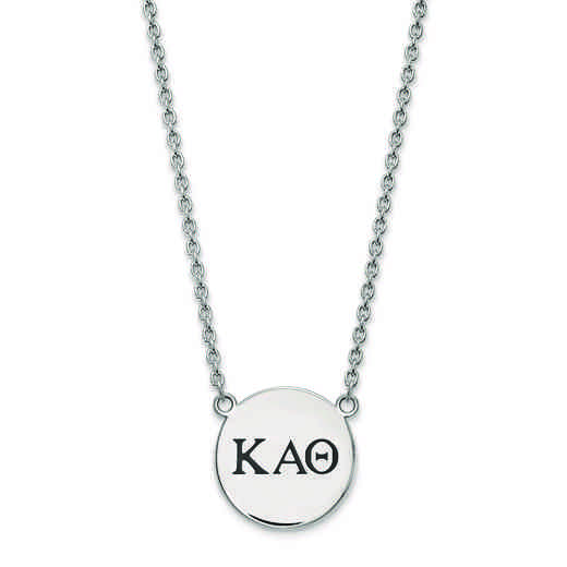 SS017KAT-18: SS LogoArt Kappa Alpha Theta Large Enl Pend w/Necklace