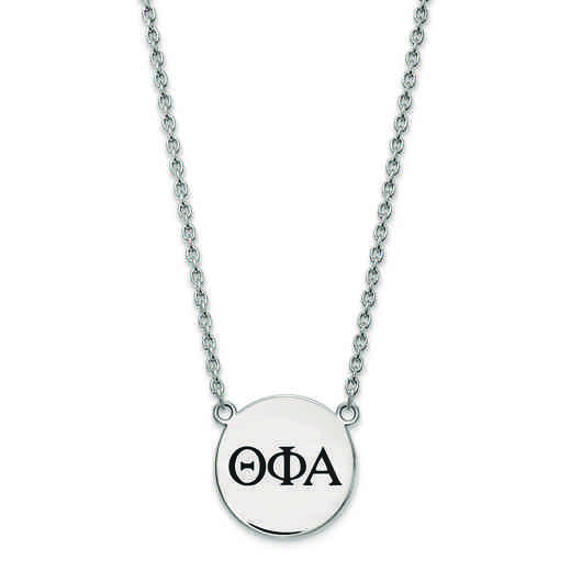 SS017TPA-18: SS LogoArt Theta Phi Alpha Large Enl Pend w/Necklace