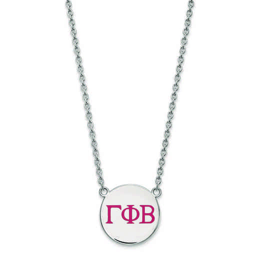 SS028GPB-18: SS LogoArt Gamma Phi Beta Large Enl Pend w/Necklace