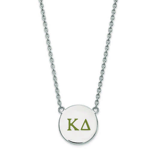 SS028KD-18: SS LogoArt Kappa Delta Large Enl Pend w/Necklace