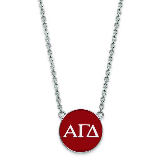 SS030AGD-18: SS LogoArt Alpha Gamma Delta Small Enl Pend w/Necklace