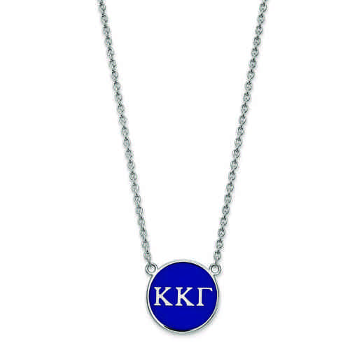 SS030KKG-18: SS LogoArt Kappa Kappa Gamma Large Enl Pend w/Necklace