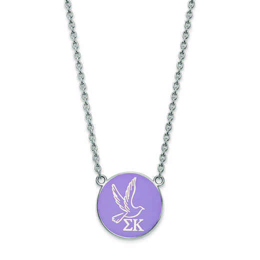 SS043SKP-18: SS LogoArt Sigma Kappa Large Enl Pend w/Necklace