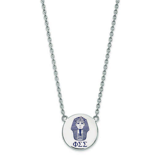 SS045PSS-18: SS LogoArt Phi Sigma Sigma Large Enl Pend w/Necklace