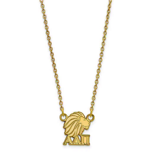 GP039ADP-18: SS w/GP LogoArt Alpha Delta Pi XS Pend w/Necklace