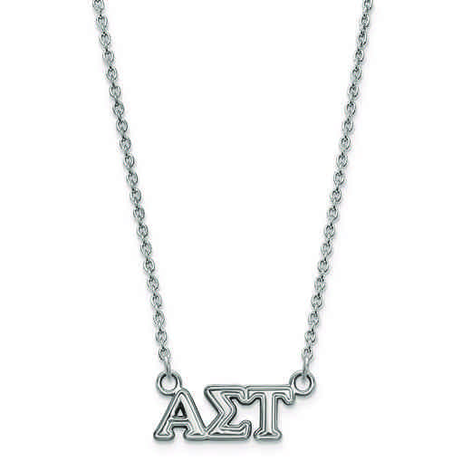 SS006ALS-18: SS LogoArt Alpha Sigma Tau XS Pend w/Necklace