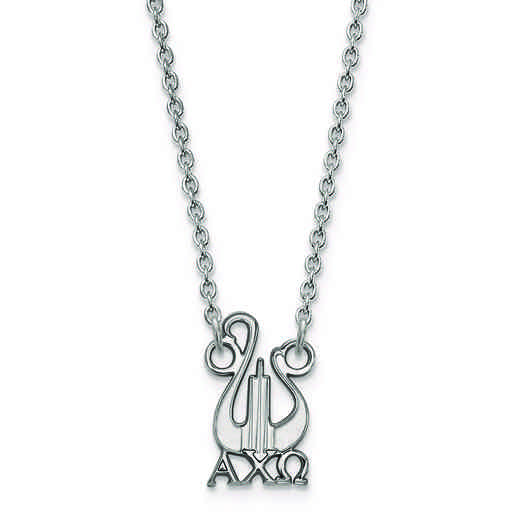 SS039ACO-18: SS LogoArt Alpha Chi Omega Small Pend w/Necklace