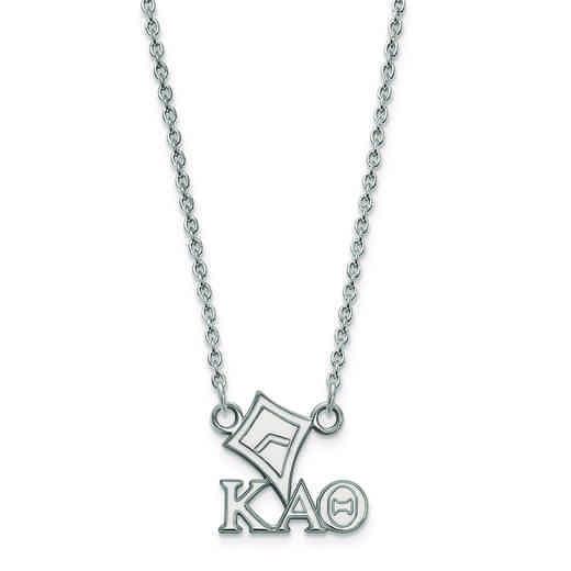 SS039KAT-18: SS LogoArt Kappa Alpha Theta XS Pend w/Necklace