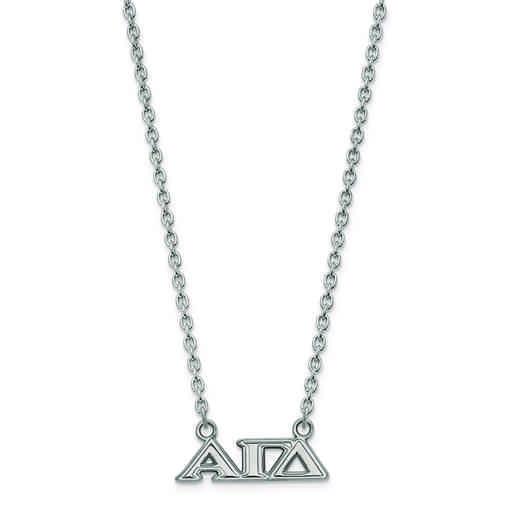 SS007AGD-18: SS LogoArt Alpha Gamma Delta Medium Pend w/Necklace