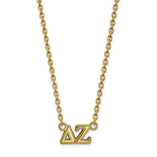 GP007DZ-18: SS w/GP LogoArt Delta Zeta Medium Pend w/Necklace