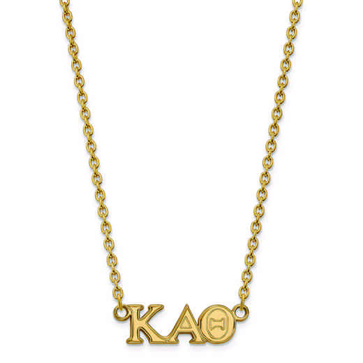 GP007KAT-18: SS w/GP LogoArt Kappa Alpha Theta Medium Pend w/Necklace