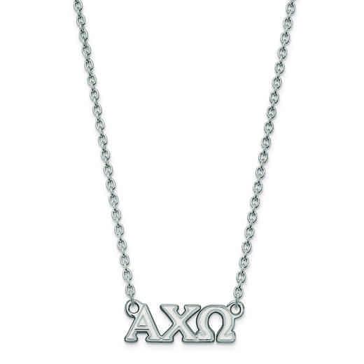 SS007ACO-18: SS LogoArt Alpha Chi Omega Small Pend w/Necklace