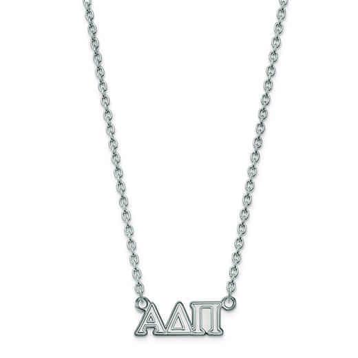 SS007ADP-18: SS LogoArt Alpha Delta Pi Medium Pend w/Necklace