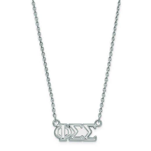 SS007PSS-18: SS LogoArt Phi Sigma Sigma Medium Pend w/Necklace
