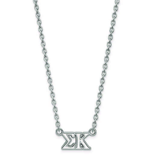 SS007SKP-18: SS LogoArt Sigma Kappa Medium Pend w/Necklace