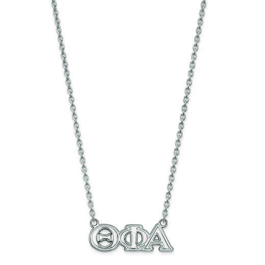 SS007TPA-18: SS LogoArt Theta Phi Alpha Medium Pend w/Necklace