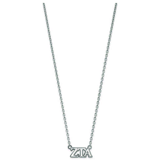 SS007ZTA-18: SS LogoArt Zeta Tau Alpha Medium Pend w/Necklace