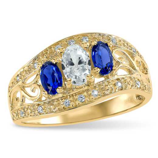 Touchstone Luna Three Stone Ring
