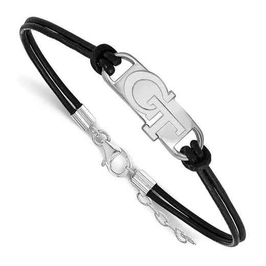 SS017GT-7: Georgia Institute of Technology Leather Bracelet