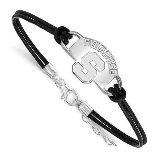 SS016SYU-7: Syracuse University Leather Bracelet