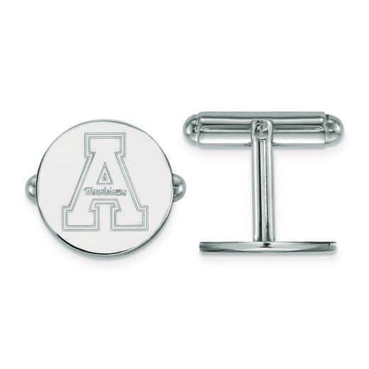 SS010APS: SS LogoArt Appalachian State University Cuff Link