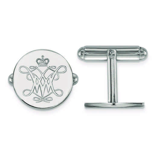 SS002WMA: SS LogoArt William And Mary Cuff Link