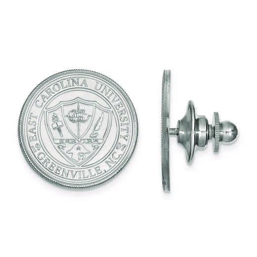 SS056ECU: SS LogoArt East Carolina University Crest Cuff Link