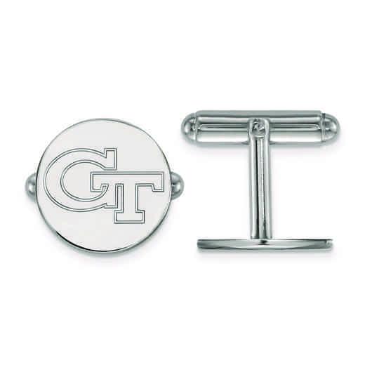 SS064GT: SS LogoArt Georgia Institute of Technology Cuff Links
