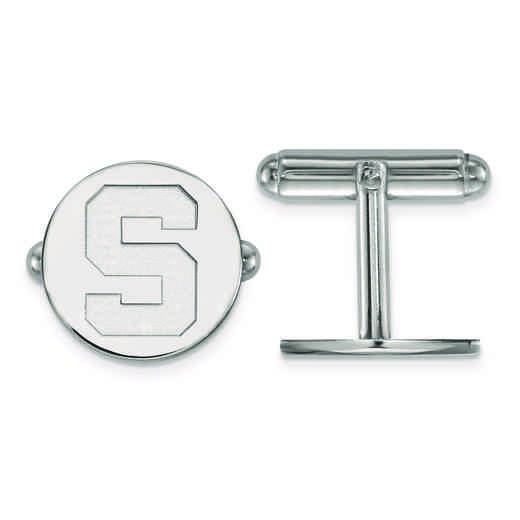 SS012MIS: SS LogoArt Michigan State University Cuff Link