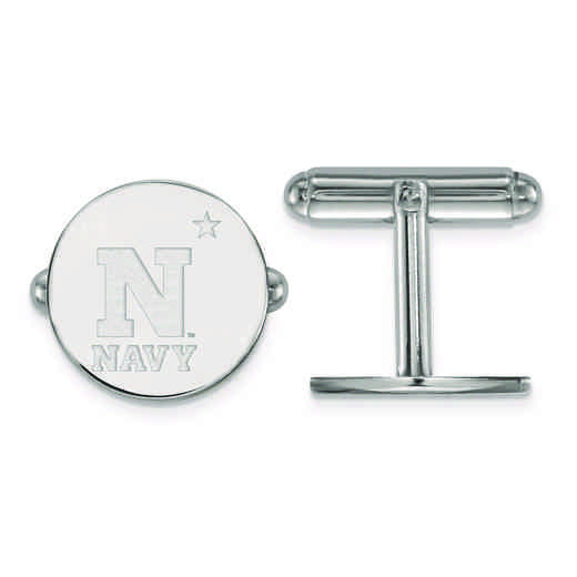 SS002USN: SS LogoArt Navy Cuff Link