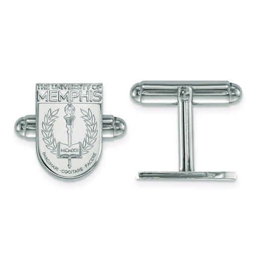 SS029UMP: SS LogoArt University of Memphis Crest Cuff Link