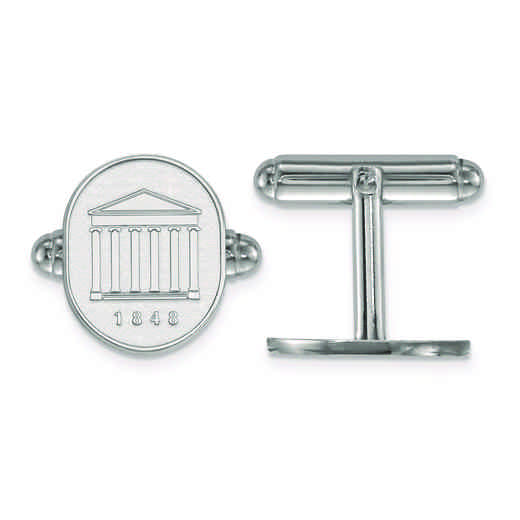 SS073UMS: SS LogoArt University of Mississippi Crest Cuff Link