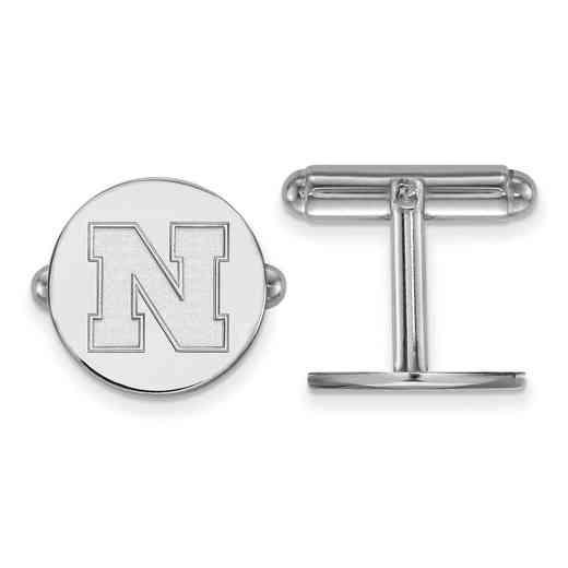 SS086UNE: SS LogoArt University of Nebraska Cuff Links