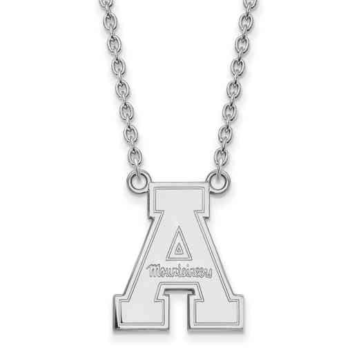SS012APS-18: SS LogoArt Appalachian St Univ LG Pendant w/Neckla